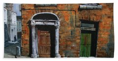 Beach Towel featuring the painting 775 Decaying Elegance In The Liberties, Dublin by Val Byrne