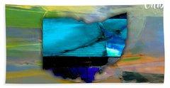 Ohio State Map Watercolor Beach Towel