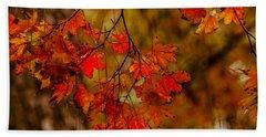 A Branch Of Autumn Beach Sheet