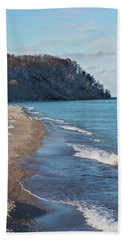 Beach Towel featuring the photograph A Brisk Morning by Kim Hojnacki