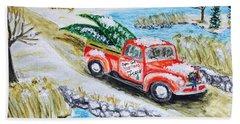 A Cape Cod Christmas Beach Towel