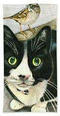 A Cat Named Sparrow Beach Towel