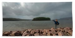 A Charming Little Girl In The Isle Of Skye 1 Beach Towel