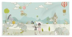 A Day At The Park Beach Towel