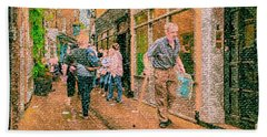 A Day At The Shops Beach Towel