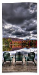 Beach Towel featuring the photograph A Fall Day On West Lake by David Patterson