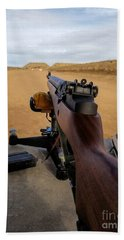 Beach Towel featuring the photograph A Fine Day At The Range by Jon Burch Photography