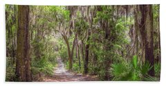 Beach Towel featuring the photograph A Forest Trail by John M Bailey