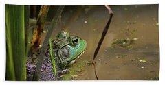 A Frog Waits Beach Towel