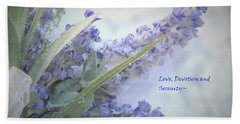 A Gift Of Lavender Beach Sheet