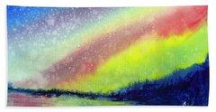A Little Aurora Borealis Beach Sheet