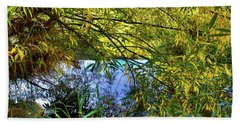 Beach Towel featuring the photograph A Peek At The River by David Patterson