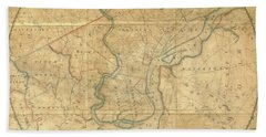 A Plan Of The City Of Philadelphia And Environs, 1808-1811 Beach Towel