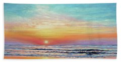A Promising Beginning - Sunrise On The Outer Banks Beach Towel