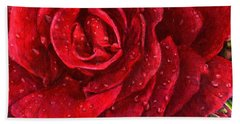 A Rose For My Love Beach Towel