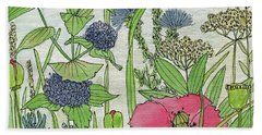 A Single Poppy Wildflowers Garden Flowers Beach Towel