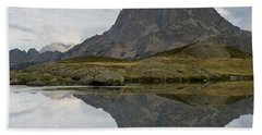 Beach Towel featuring the photograph A Still Evening At Lac Du Miey by Stephen Taylor