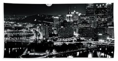 A View Of Pittsburgh Pa From Above Beach Towel
