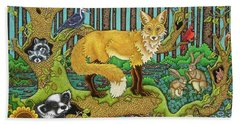 A Vixen In The Forest Beach Towel