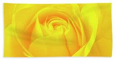 A Yellow Rose For Joy And Happiness Beach Towel