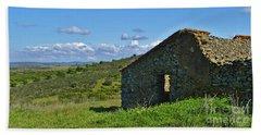 Abandoned Cottage In Alentejo Beach Towel
