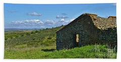 Abandoned Cottage In Alentejo Beach Sheet