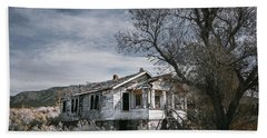 Beach Towel featuring the photograph Abandoned Farmhouse In Golden, New Mexico by Robert FERD Frank