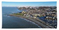 Aberystwyth In Winter Beach Towel