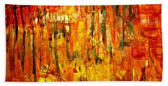 Beach Towel featuring the painting Ablaze by 'REA' Gallery