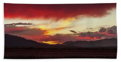 Beach Towel featuring the photograph Ablaze by Rick Furmanek