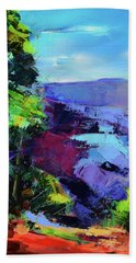 Blue Shades Over The Canyon Beach Towel