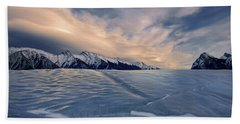 Abraham Lake Ice Wall Beach Towel
