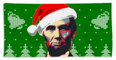 Abraham Lincoln Merry Christmas Beach Towel