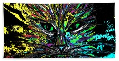 Abstract Cat  Beach Sheet