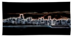 Abstract City Neon Beach Towel
