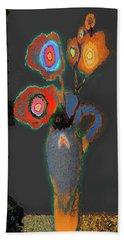 Abstract Floral Art 367 Beach Sheet