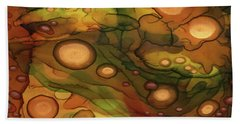 Beach Towel featuring the painting Abstract Ink 25 by Amy E Fraser