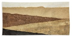 Abstract Landscape In Earth Tones Beach Sheet
