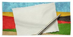 Abstract Landscape With A Blank Note Beach Towel