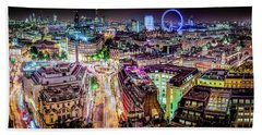 Beach Towel featuring the photograph Abstract London by Stewart Marsden