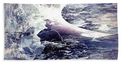 Beach Towel featuring the digital art Abstract Ocean Enigma by Robert G Kernodle