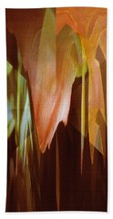 Beach Towel featuring the digital art Abstract Orange Flower by Robert G Kernodle