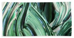 Abstract Organic Lines The Flow Of Blue And Green  Beach Towel