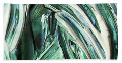 Abstract Organic Lines The Flow Of Green And Blue Beach Towel