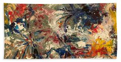 Abstract Puzzle Beach Towel