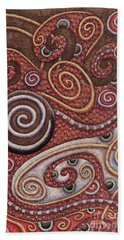Abstract Spiral 6 Beach Towel