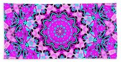 Abstract Spun Flower Beach Towel