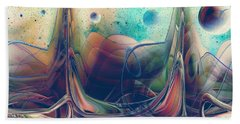 Beach Towel featuring the digital art Turbulence by Robert G Kernodle