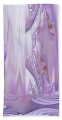 Beach Towel featuring the digital art Liquid Lavender by Robert G Kernodle