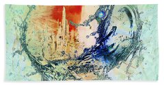 Abstract Water Splash Beach Towel